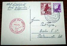 Scheda AEREO Nave Graf Zeppelin Sudeti viaggio Frankfurt Main Reno 1938