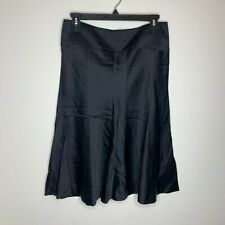 Theory Womens Size 2 Black Flared Skirt Made In USA