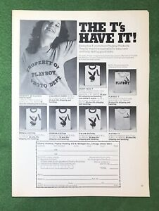 Vintage 1960s magazine ad Playboy Merchandise The T's Have it! T-Shirts BUNNY