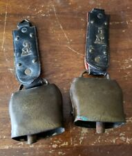Vintage 1960's Swiss Alps Brass & Cast Bells Cowbell