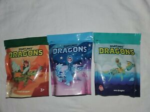 Wendy's Dragons Smart Links Star Dragon Kid Meal Toys NIP (3x)