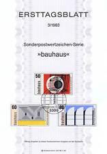 BRD 1983: Bauhausgründer Walter Gropius! Ersttagsblatt mit den Nr 1164-1166! 155