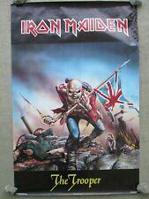 VINTAGE 1984 Iron Maiden Poster by Derek Riggs Fan Club No. 1479 The Trooper