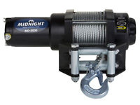 Viper Midnight 3000 lb ATV UTV Winch Kit with 50 feet Steel Cable