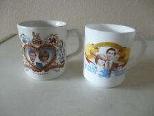 2 Prince Charles and Lady Diana - Royal Wedding 1981 - Commemorative Cups/Mugs