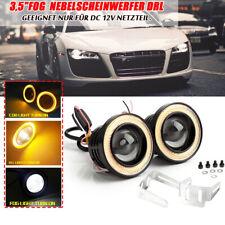 "2pcs 3,5""Fog Angel Eyes Nebelscheinwerfer DRL 89 mm mit Gelb LED COB Halo Ring"