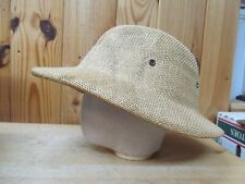 Vintage Brookstone (Straw Type Pith) Jungle Safari Explorer Hat