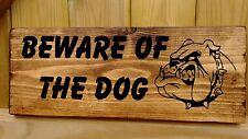 Attenzione al cane Cartello di avvertimento cautela casa giardino cancello porta di sicurezza rustico