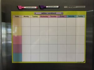 A3 Weekly Schedule Daily Organiser Office Planner Magnet Fridge Whiteboard 2pens