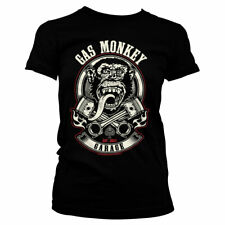 Officially Licensed Gas Monkey Garage - Pistons & Flames Women's T-Shirt S-XXL