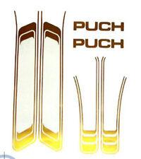 Frame Sticker Set Abzugsatz Gold Transparent Puch Maxi N, S, K, L, 2K, Sport
