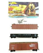 3 Athearn Ho Cars:1401 50' Flat Milwaukee,1645 Erie Gondola,5031 Kcs Auto T114