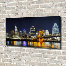 Leinwandbild Kunst-Druck 140x70 Bilder Ohio in der Nacht