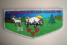 OA WOAPEU SISILIJA 343 SUSQUEHANNA COUNCIL PATCH SMY 25TH ANN BUFFALO DEER FLAP