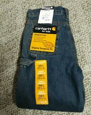 Carhartt Original Dungaree Fit Size 5 Flannel Lined Style CK8314