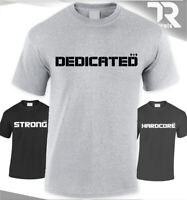 DEDICATED NUTRITION T-SHIRT #GAINZ GYM MUSCLE-FIT PRE-SHRUNK TOP QUALITY LIMITED