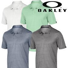 Oakley Mens Top Stripe Performance Golf Polo Shirt