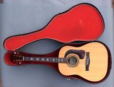Fine Vintage 1970 Giannini GS-570 Brazlian Rosewood Acoustic Guitar in Case