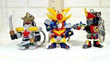 RARE VINTAGE 3 SUPER ROBOT CHOGOKIN FIGURE KEYCHAIN KEY RING BANPRESTO SET NO 2