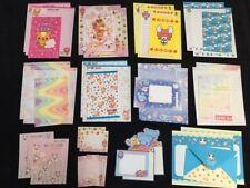 LOT Kawaii Stationery Letter Sets Kamio San-X Japan Paper RARE VINTAGE DESIGNS