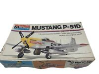 1977 Monogram North American P51D Mustang 1/48 scale model kit. Complete