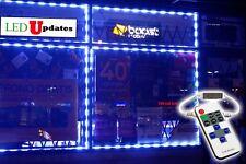 LEDUPATES 20FT Flash BLUE STORE FRONT LED LIGHT KIT 5050 + remote & UL Power