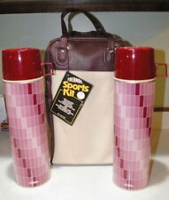 NOS Unused Near Mint Thermos Sports Kit Pink & Red Checkered Original Store Tag!