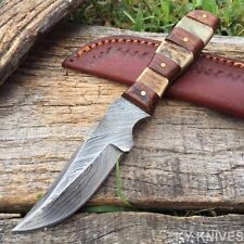 "6.5"" HAND MADE REAL DAMASCUS STEEL SKINNER HUNTING KNIFE Real Stag DM-1109 F"
