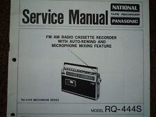 Panasonic RQ-444S RADIO REGISTRATORE A CASSETTE MANUALE SERVIZIO diagramma di cablaggio parti