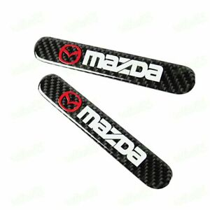 MAZDA Carbon Fiber Car Trunk Side Fenders Door Badge Scratch Guard Sticker X2