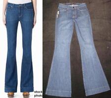 Genetic Denim Jeans Leaf Fit High Waist Flare Dark Distressed Sz 25 NEW $180
