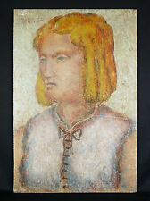 Marcel Valensi (Xx) Painting Art Deco of 1927 on Panel of Cement