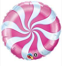 "Pink Candy Lollipop Swirls 18"" Balloon Birthday Party Decorations"