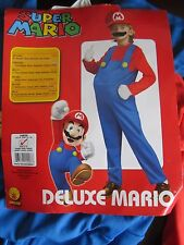 New Super Mario Bros Mario Deluxe Halloween Costume Large US Size 12-14 age 8-10