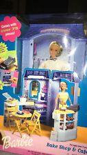 """Barbie """"Bake Shop & Cafe"""" Toy Set New In Box Mattel 2000"""