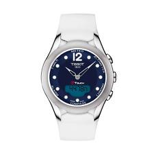 Tissot Quartz Men's Watch T-Touch Solar Chronograph Date Blue 38mm