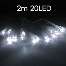 WEARABLE PARTY Costume 30 White LED Battery Fairy Lights 18th 21st  Wedding
