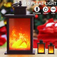 Fireplace Decoration Lantern Retro Flameless Flickering LED Log Burner Lamp Gift