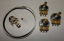 Jazz Bass Guitar Wiring Kit CTS 250K Split Pots .047 Ceramic Capacitor Fender
