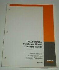 Case TF300B Trencher Parts Catalog Manual Book 7-7860 Original! 10/01 dealers