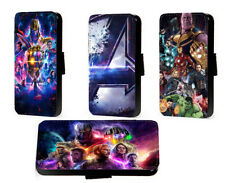 Avengers Endgame phone case Marvel Inspired leather case flip wallet card case