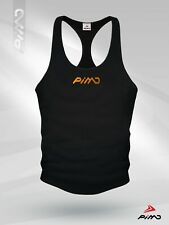Pimd Classic Black Muscle Sleeveless Tank Top Bodybuilding Sports Stringer