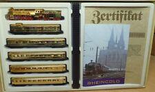"""Arnold 0167 Rheingold-Set mit BR 18+ 5 Stück Rheingold-Wagen 4-achs.""""Goldie"""""""