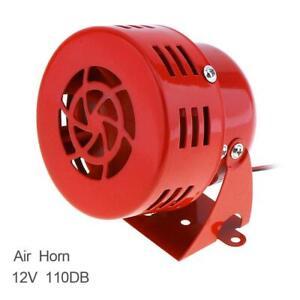 KX-5021 COMPACT ELECTRIC AIR RAID SIREN ALARM CAR/TRUCK/MOTOR 12V RED Heavy Duty