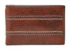 FOSSIL Clip De L'argent Reese Money Bifold Brown