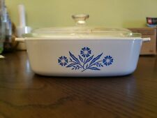 """Corning Ware A-1-B One Quart Cookware With Clear Glass Lid 6.5"""" X 6.5"""" Usa"""