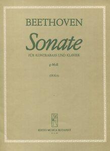 Beethoven Sonate für Kontrabass und Klavier g-Moll, Edito Musica Budapest 13 120