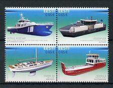 Estonia 2017 MNH Innovations Shipbuilding 4v Block Ships Boats Stamps