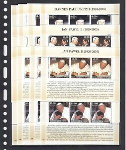 John Paul II Pope Christianity 2005 Haiti MNH complete set 20 M/s perf
