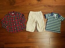 LOT GAP Ralph Lauren Boy's Holiday Red Button Shirts Pant Clothes 12-18 Months